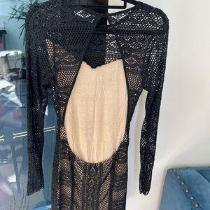 Magali Pascal Woven Black Dress - Size 10